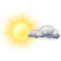 graphical daytime weather view for New Delhi